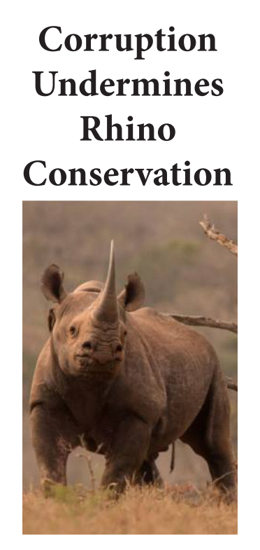 Corruption undermines Rhino Conservation trac cover 2019